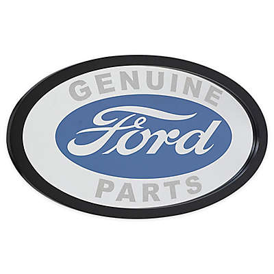 "Ford 24-Inch x 17-Inch Ford ""Genuine Parts"" Mirror in Blue/White"