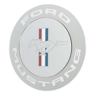 Ford 22.5-Inch Mustang Oval Mirror in Blue/White