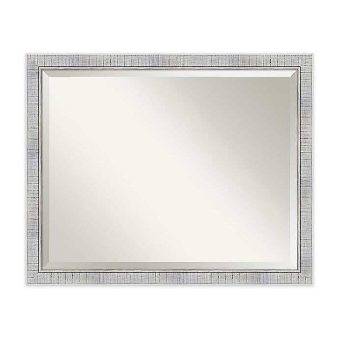 Alternate image 1 for Amanti Art Sonoma 31-Inch x 25-Inch Framed Wall Mirror in White