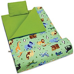 Olive Kids Wild Animals 3-Piece Sleeping Bag Set in Green