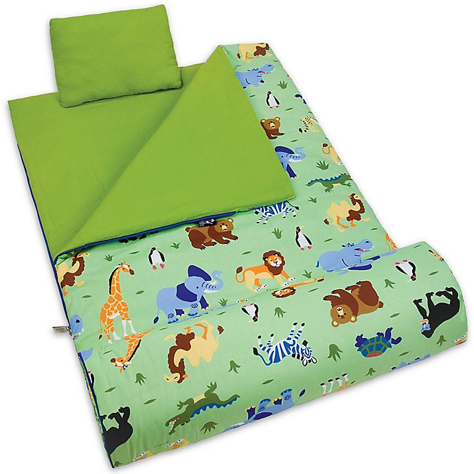 Alternate image 1 for Olive Kids Wild Animals 3-Piece Sleeping Bag Set in Green