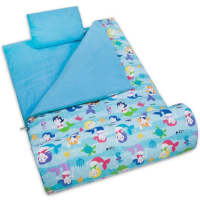 Alternate image 1 for Olive Kids Wildkin Mermaids 3-Piece Sleeping Bag Set in Blue