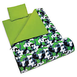 Wildkin 3-Piece Camo Sleeping Bag Set in Green