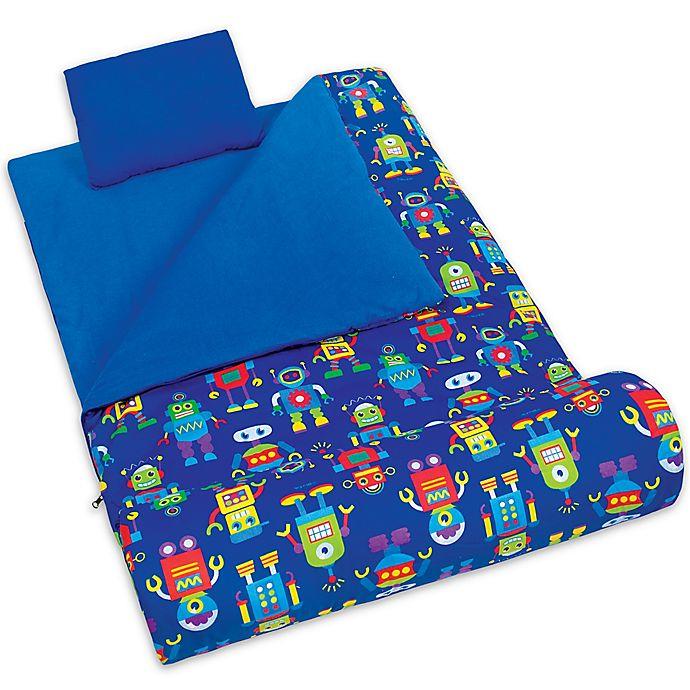 Alternate image 1 for Olive Kids Robots 3-Piece Sleeping Bag Set in Blue