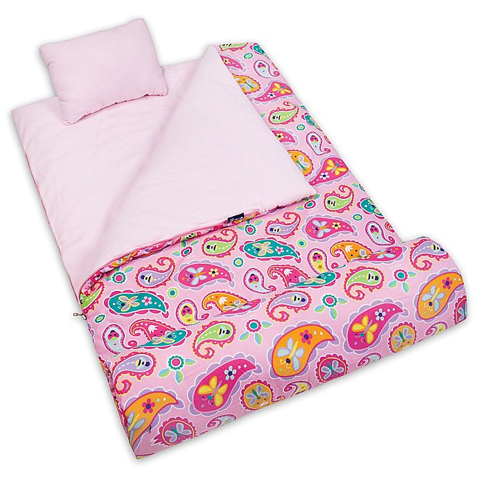 Alternate image 1 for Olive Kids Paisley 3-Piece Sleeping Bag Set in Pink