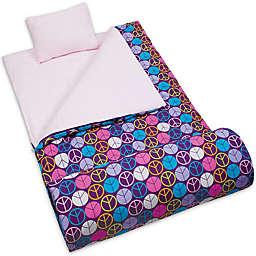 Wildkin 3-Piece Peace Sign Sleeping Bag Set in Purple