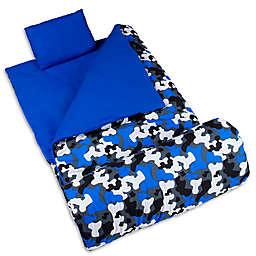 Wildkin 3-Piece Camo Sleeping Bag Set in Blue