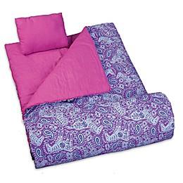 Wildkin 3-Piece Watercolor Ponies Sleeping Bag Set in Purple