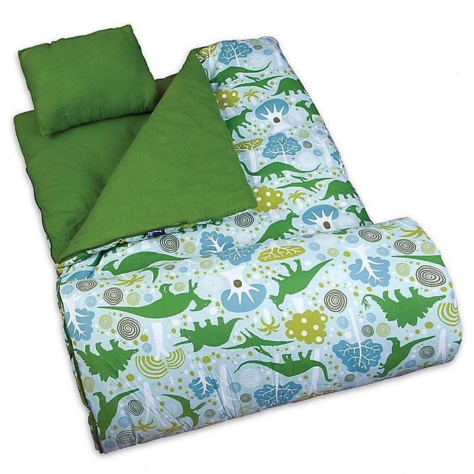 Alternate image 1 for Wildkin 3-Piece Dinomite Dinosaurs Sleeping Bag Set in Green