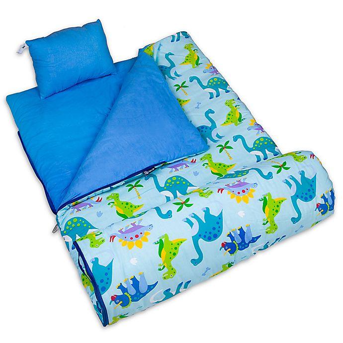 Alternate image 1 for Olive Kids Wildkin Dinosaur Land 3-Piece Sleeping Bag Set in Blue