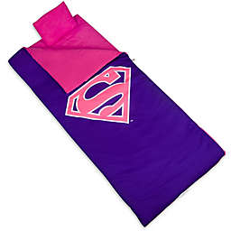 Wildkin 3-Piece Superman Shield Sleeping Bag Set in Pink/Purple