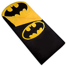 Wildkin 2-Piece Batman Emblem Sleeping Bag Set in Black/Yellow