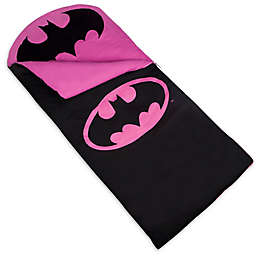 Wildkin 2-Piece Batman Emblem Sleeping Bag Set in Black/Pink