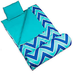 Wildkin 3-Piece Zig-Zag Sleeping Bag Set in Blue