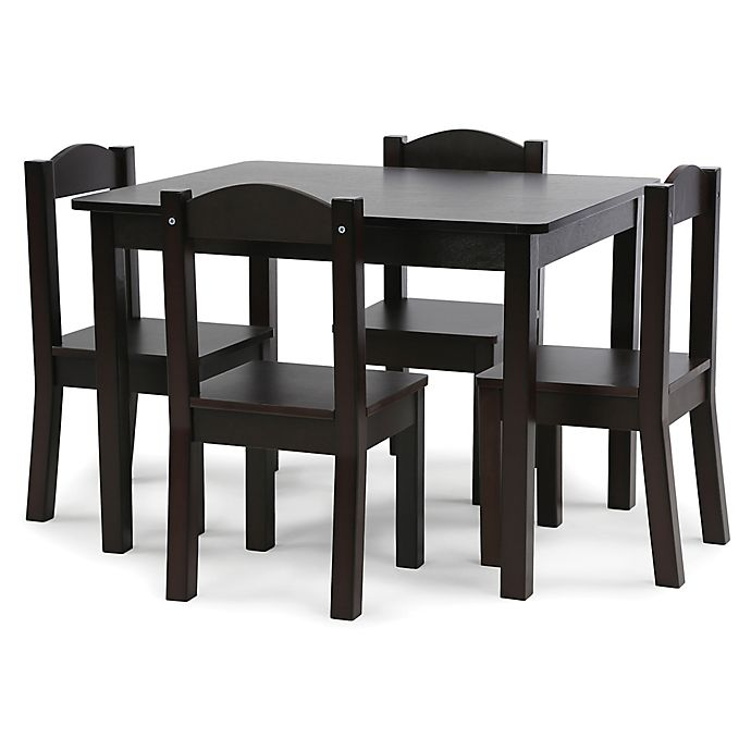 d659386d37b Tot Tutors 5-Piece Table and Chairs Set in Espresso