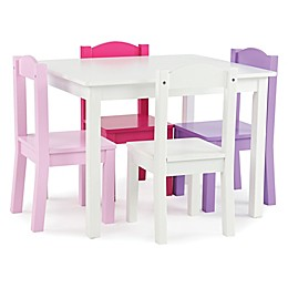 Tot Tutors 5-Piece Table & Chairs Set in Pink/Purple