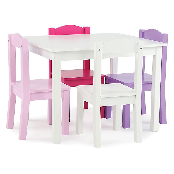 Alternate image 1 for Tot Tutors 5-Piece Table & Chairs Set in Pink/Purple