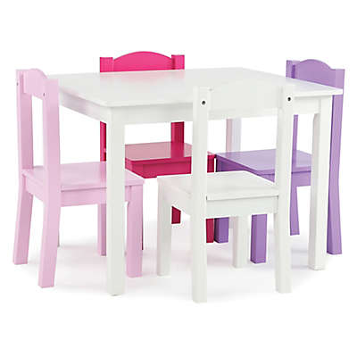 Tot Tutors 5-Piece Table & Chairs Set in Pink/Purple