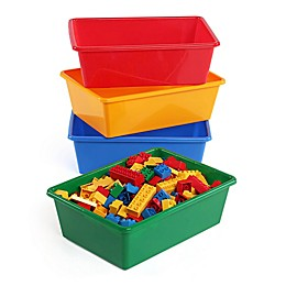 Humble Crew 4-Piece Large Storage Bins in Primary