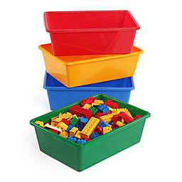 Tot Tutors 4-Piece Large Storage Bins in Primary