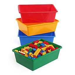 Tot Tutors 4-Piece Large Storage Bins in Primary