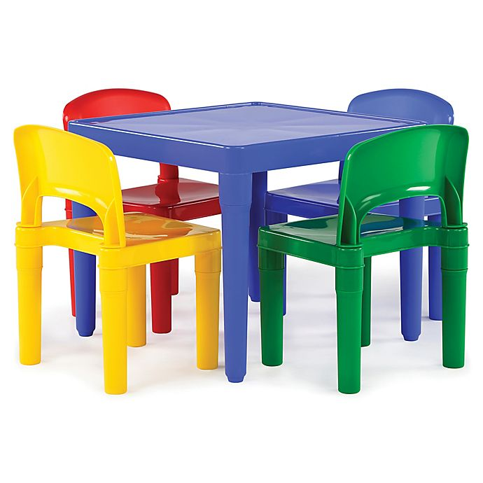 Humble Crew Snap Together 5 Piece Table And Chairs Set