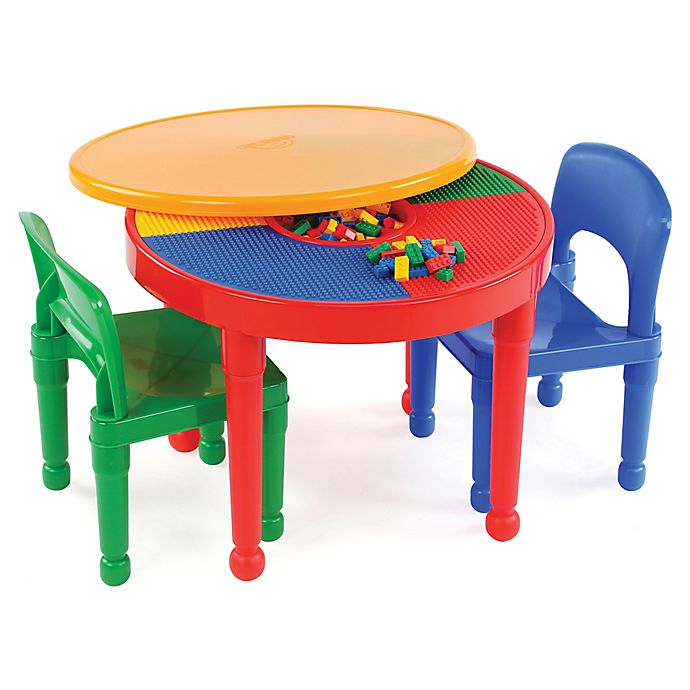 Alternate image 1 for Tot Tutors 2-In-1 LEGO®-Compatible Activity Table and Chair Set