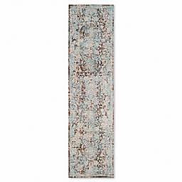 Safavieh Vintage Persian Pythos 2-Foot 2-Inch x 8-Foot Runner in Brown/Light Blue