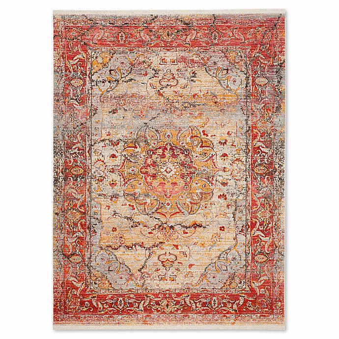 Alternate image 1 for Safavieh Vintage Persian Grego 6-Foot x 9-Foot Area Rug in Saffron/Cream