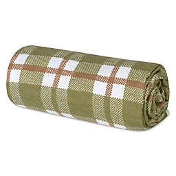 Trend Lab® Deer Lodge Deluxe Plaid Flannel Swaddle Blanket in Green and Brown