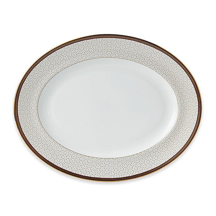 Alternate image 1 for Wedgwood® Byzance 13-Inch Oval Platter