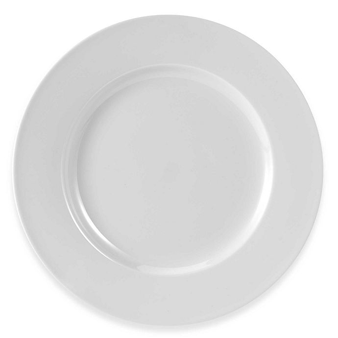 Alternate image 1 for Everyday White® by Fitz and Floyd® Rim Dinner Plates (Set of 4)