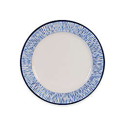 Everyday White by Fitz and Floyd® Blue Stripe Rim Salad Plate in White