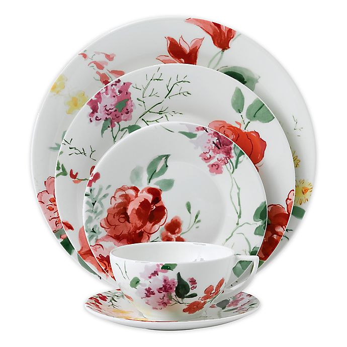 Alternate image 1 for Wedgwood® Jasper Conran Floral 5-Piece Place Setting