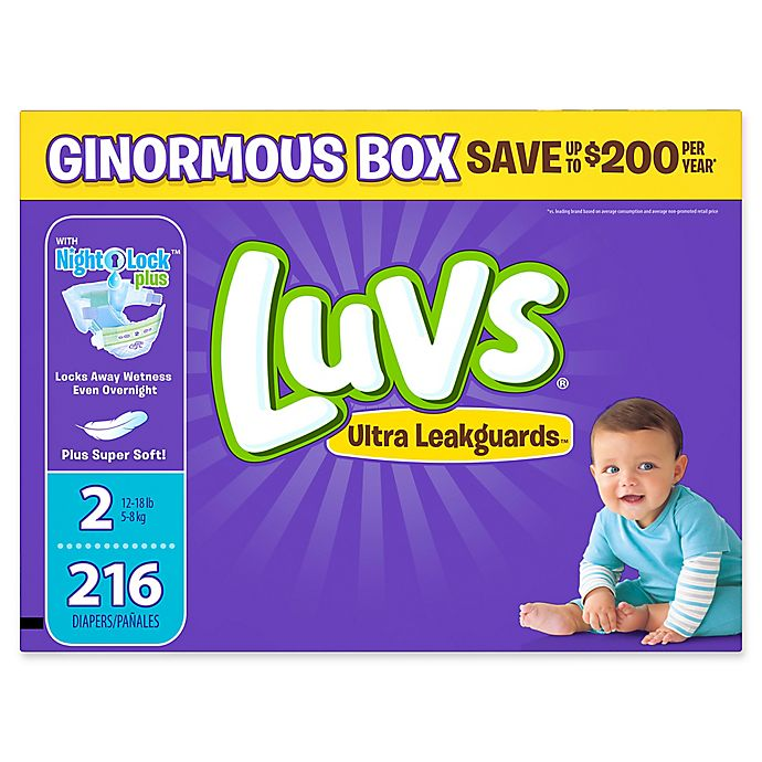 Alternate image 1 for Luvs® Ultra Leakguards™ 216-Count Size 2 Disposable Diapers