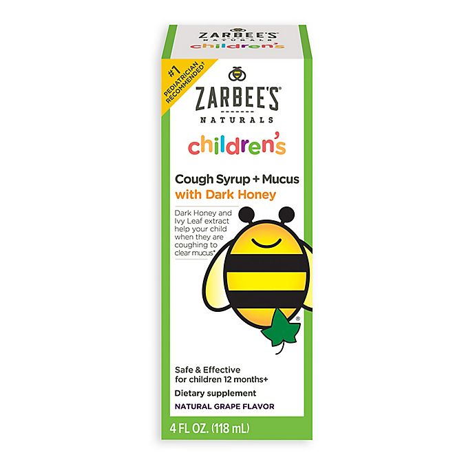 Alternate image 1 for Zarbee's® 4 oz. Naturals Baby Cough Syrup + Mucus in Natural Grape Flavor