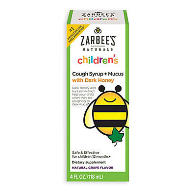 Zarbee's® 4 oz. Naturals Baby Cough Syrup + Mucus in Natural Grape Flavor