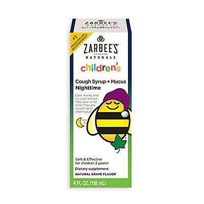 Zarbee's® 4 oz. Naturals Childrens Nighttime Cough Syrup + Mucus in Natural Grape Flavor