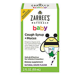 Zarbee's® 2 oz. Naturals Baby Cough Syrup + Mucus in Natural Grape Flavor