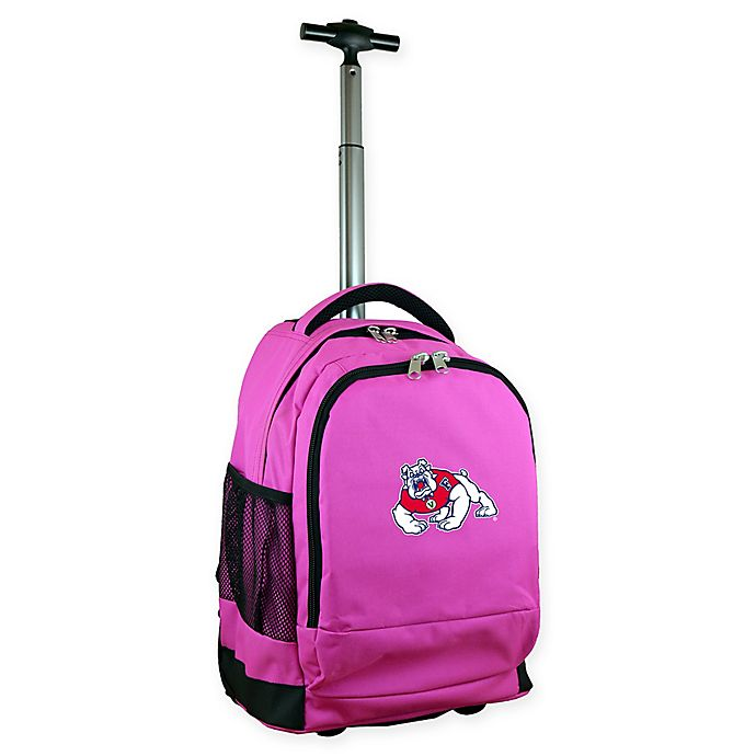 Alternate image 1 for California State University, Fresno 19-Inch Wheeled Backpack in Pink