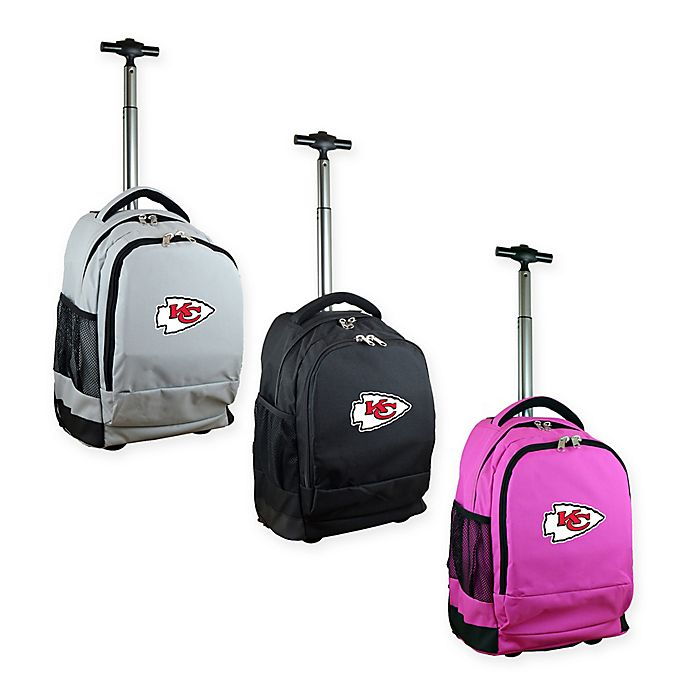 5be56a19d728 NFL Kansas City Chiefs 19-Inch Wheeled Backpack | Bed Bath & Beyond