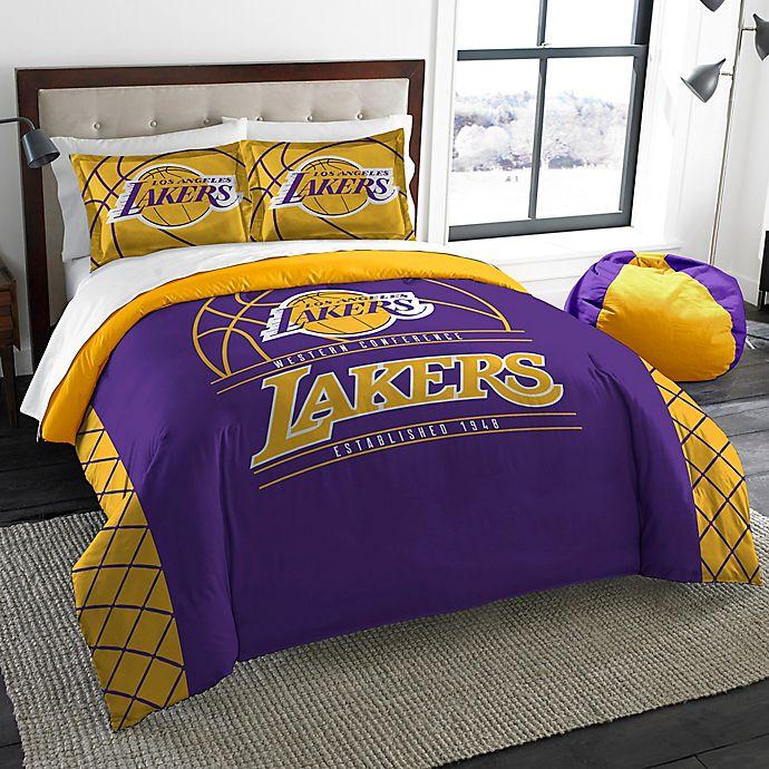 Nba Los Angeles Lakers Reverse Slam Comforter Set Bed Bath Beyond