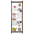 Burnes of Boston 5-Foot Ladder Collage Frame with Clips in Walnut