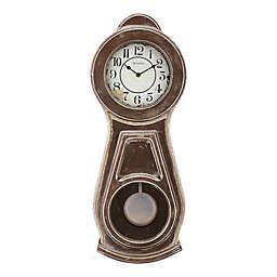 Bulova Guilford Wall Clock in Brown
