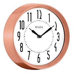 Bulova Cleaver Wall Clock in Brushed Copper