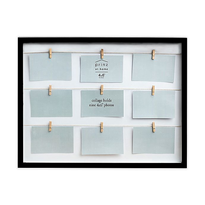 Prinz Clothespin 9 Photo Collage Picture Frame
