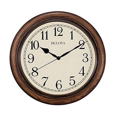 Bulova Oak Wall Clock