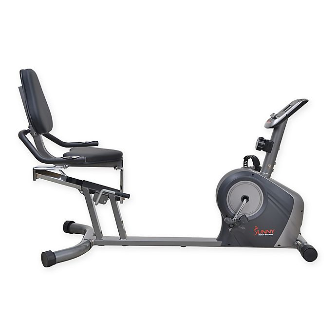 Sunny Health Fitness Sf Rb4602 Recumbent Bike With Extra Capacity In Grey Bed Bath And Beyond Canada