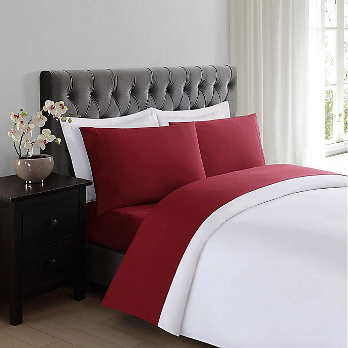 Alternate image 1 for Truly Soft Everyday Twin Sheet Set in Burgundy