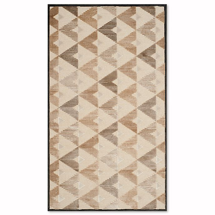 Alternate image 1 for Safavieh Paradise Modern 3-Foot 3-Inch x 5-Foot 7-Inch Rug in Soft Anthracite/Cream